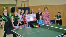 """Bürgerdienst e.V. unterstützt TTC Dockweiler bei der Realisierung des Projektes """"Jahr des Mädchens-Tischtennis"""""""