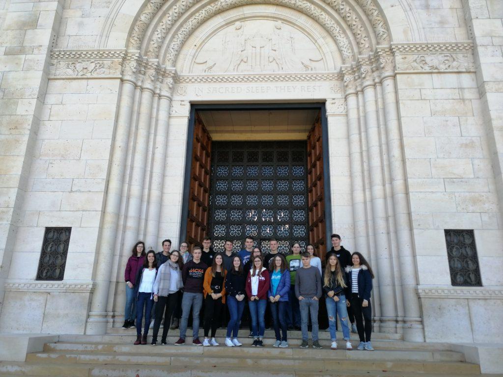 Schüler des Geschwister-Scholl-Gymnasiums bei ihrer Exkursion nach Verdun